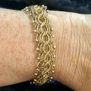 Solid 14K Yellow Gold Charm  Bracelet
